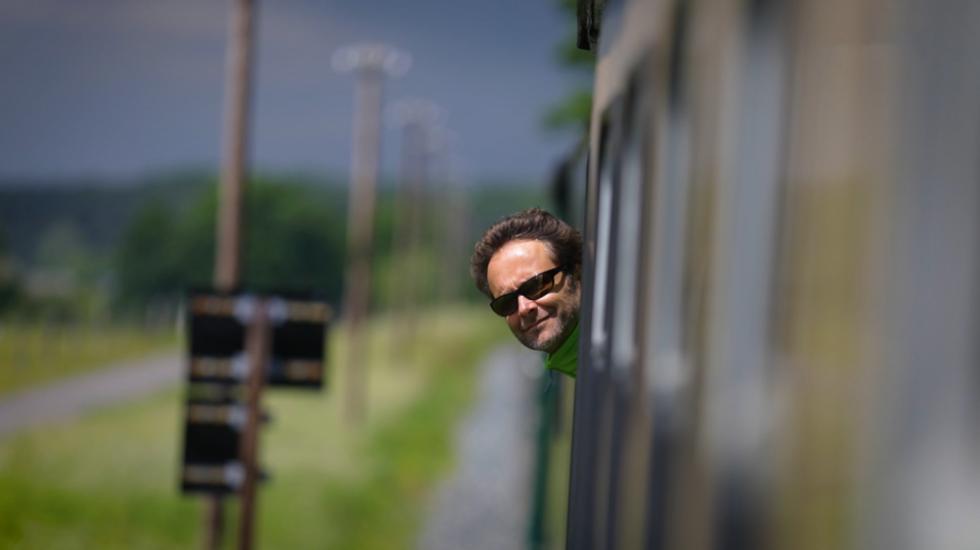 Martin åker tåg på Rügen