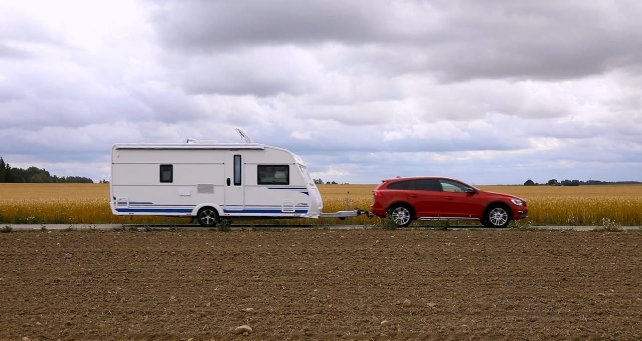 Vi bodde på camping i Östergötland