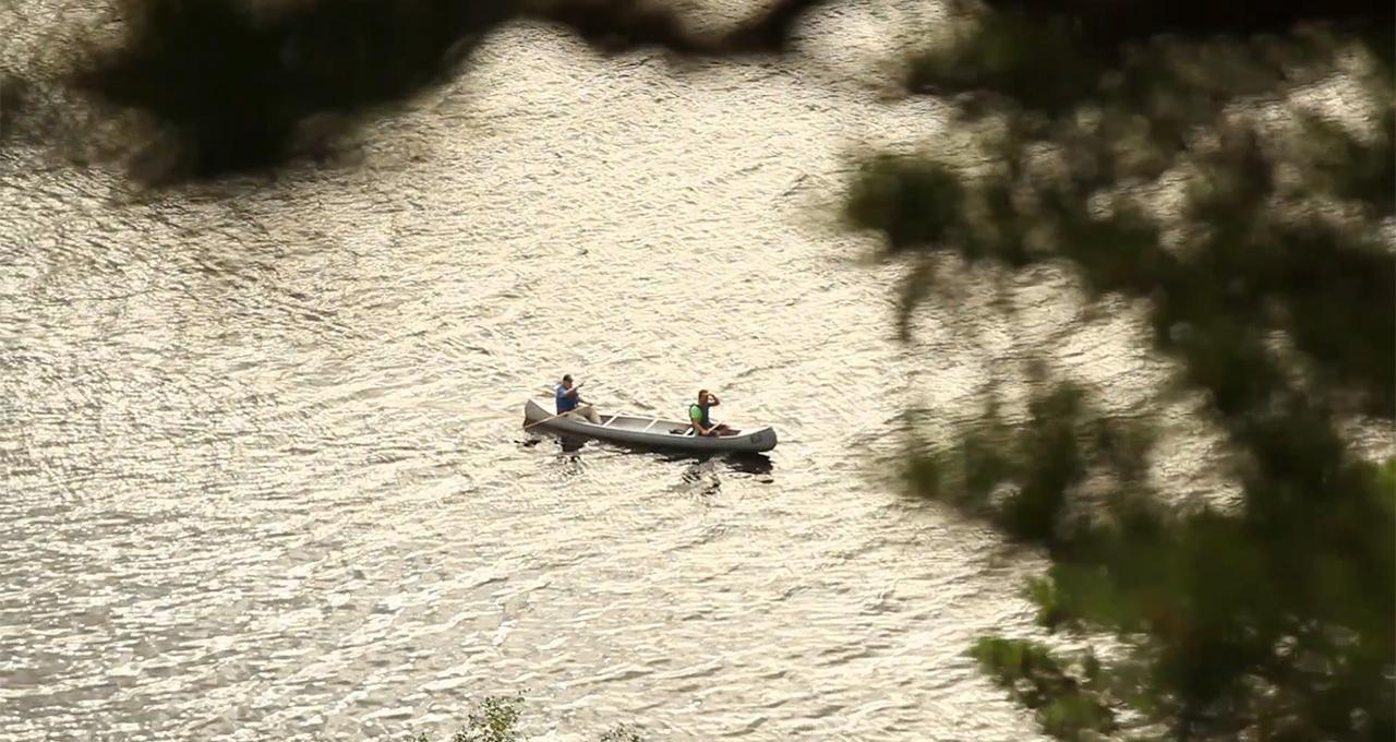 Paddla kanot i Västra Silen