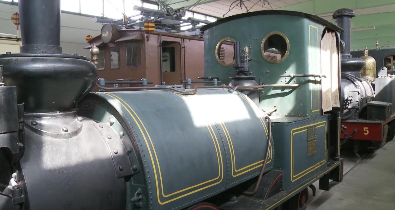 Ett lok på Hagfors järnvägsmuseum