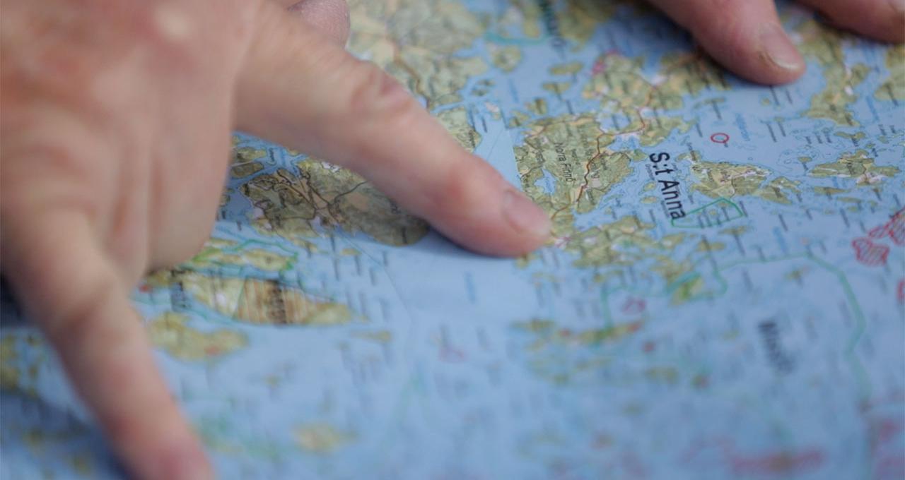 Östergötlands skärgård, sjökort, Sankt Anna, Gryts