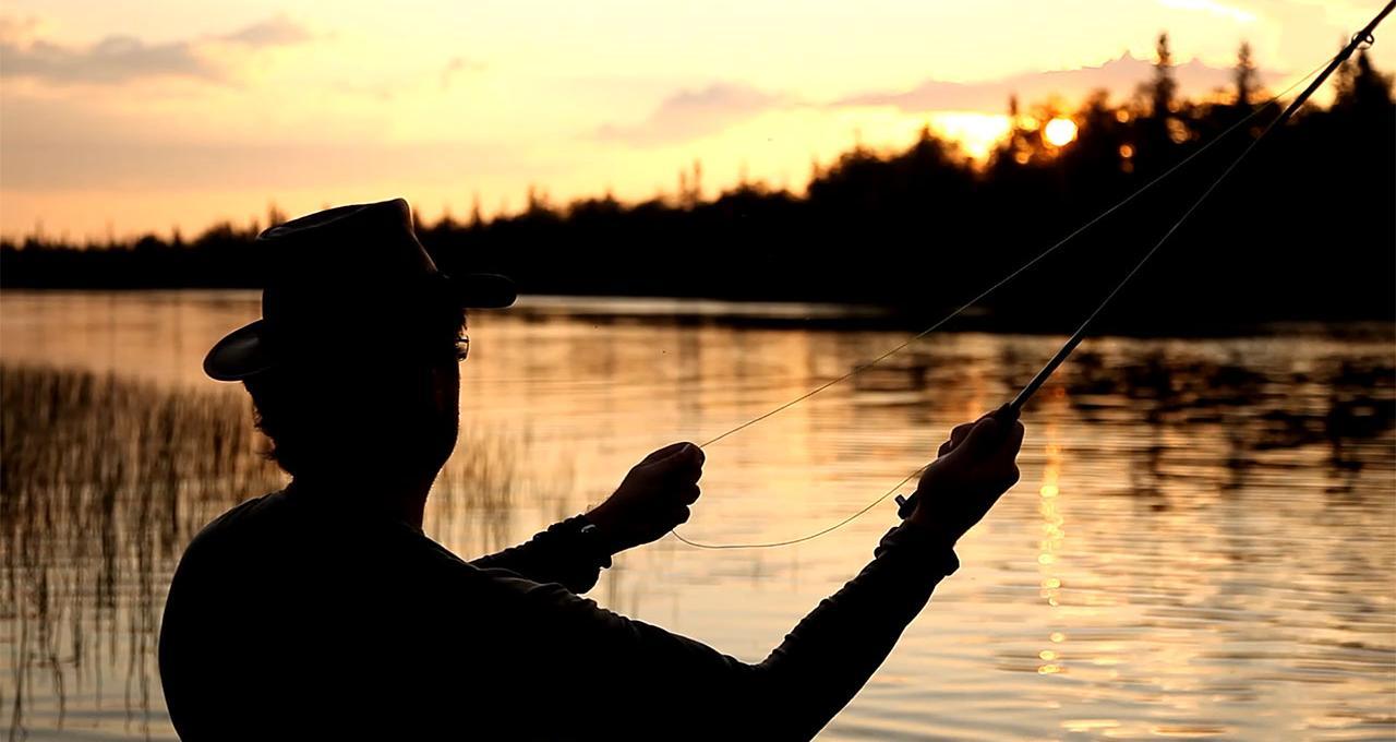 Nattfiske i Handöl
