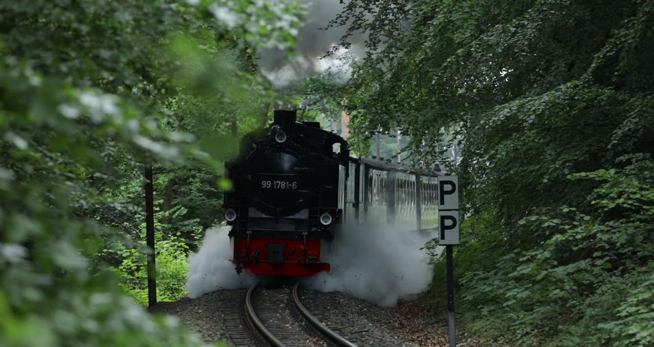 Ånglok på Rügen