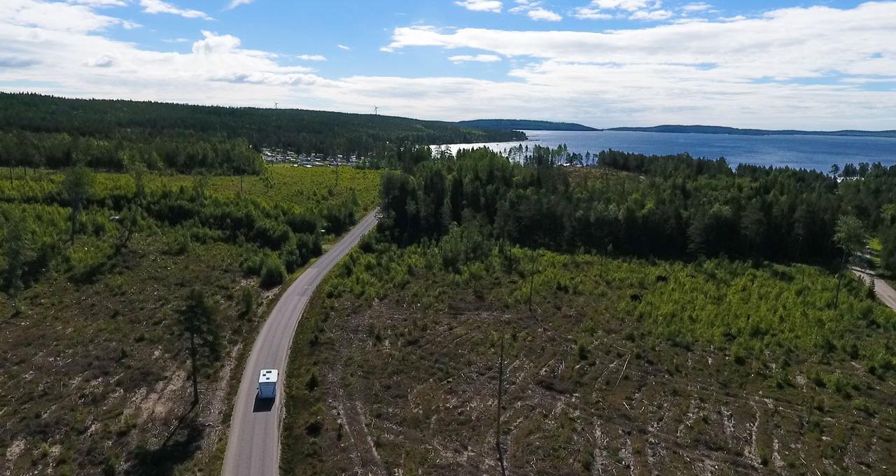 Vårt campingboende i Skellefteå