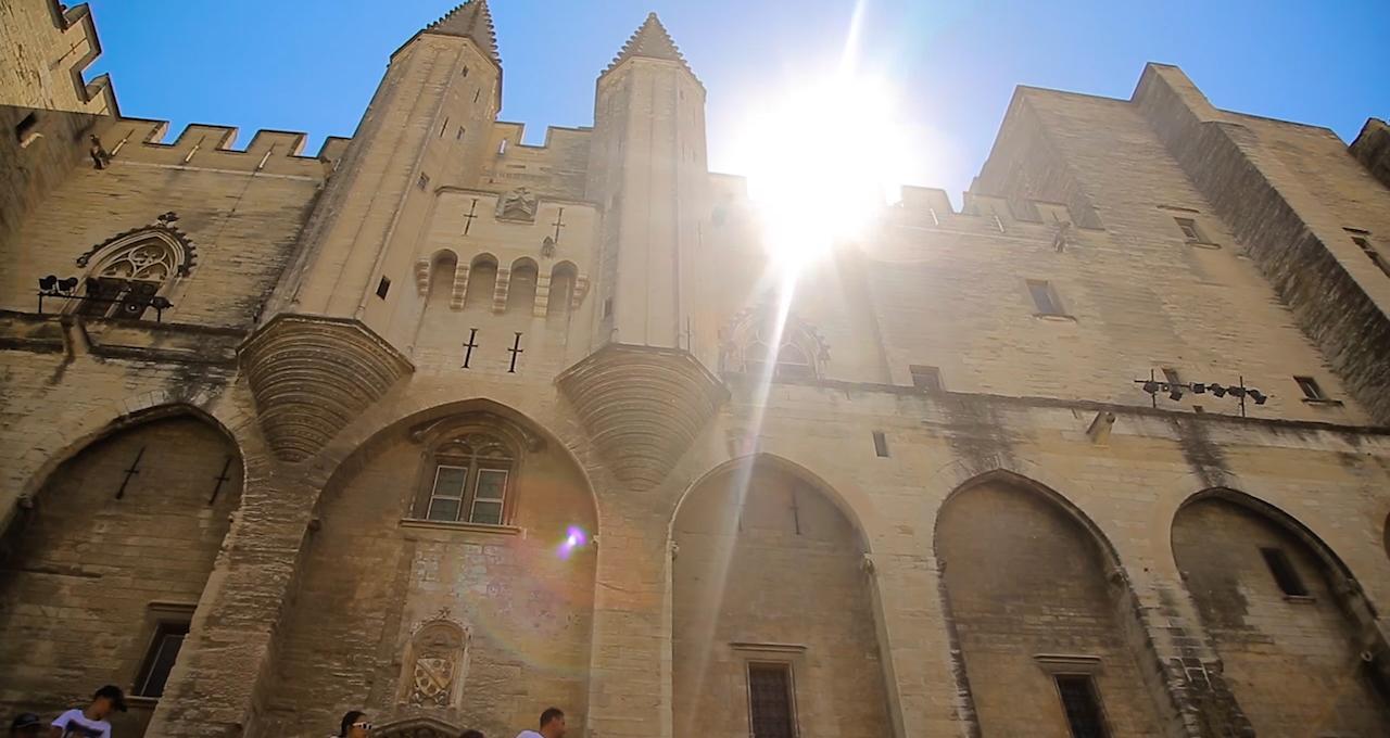 Gamla påveresidenset i Avignon